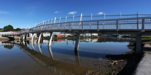 "Hatea Lopp Walkway bridge, ""Kohtuitui Whitinga"", has seen an increase from 3339 to 7746 people since January this year."